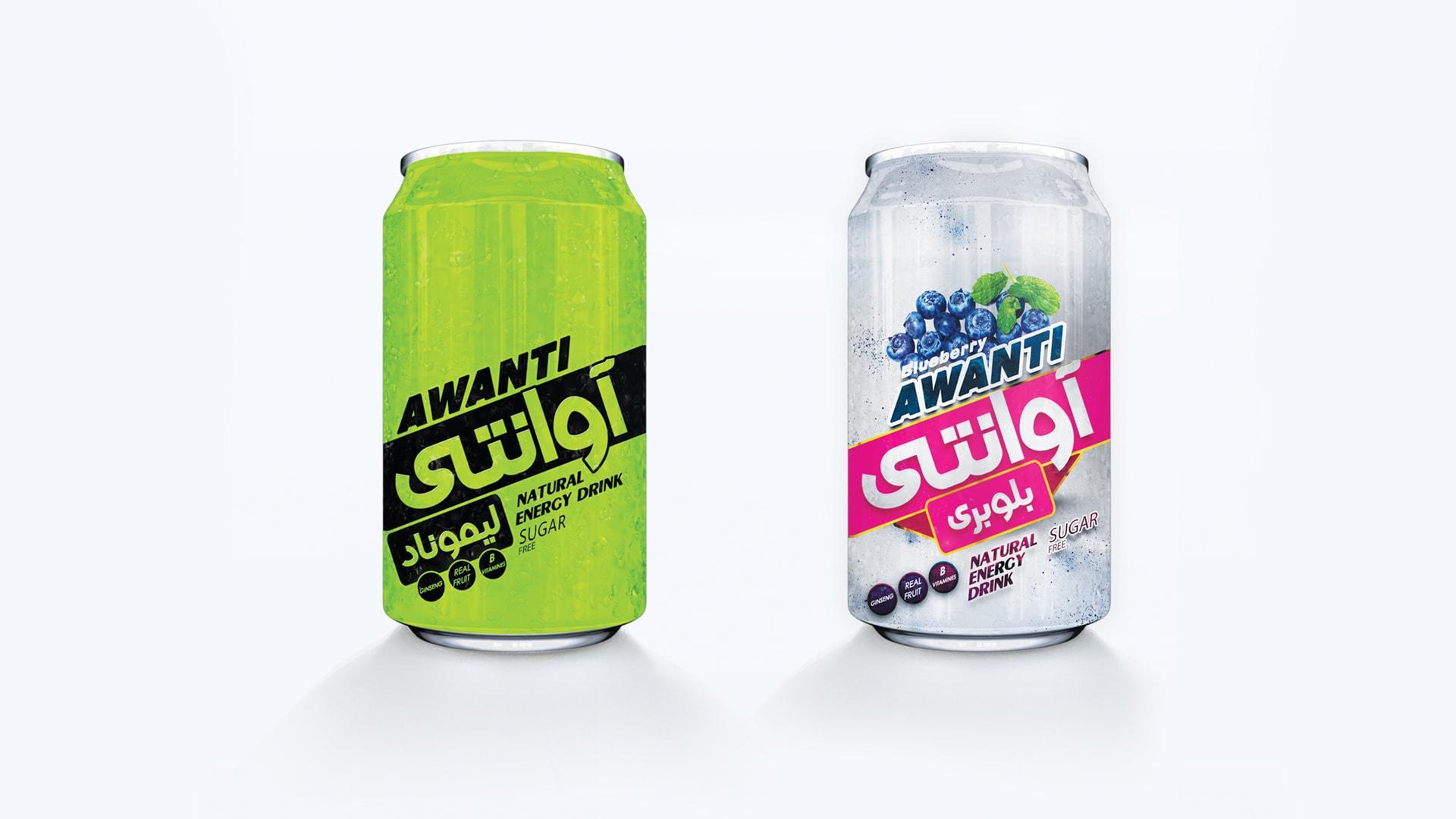 طراحی بسته بندی نوشیدنی آوانتی - گرافیک بسته بندی کی نگار