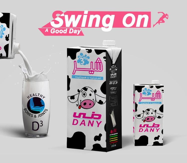 طراحی و چاپ بسته بندی شیر دنی - کی نگار