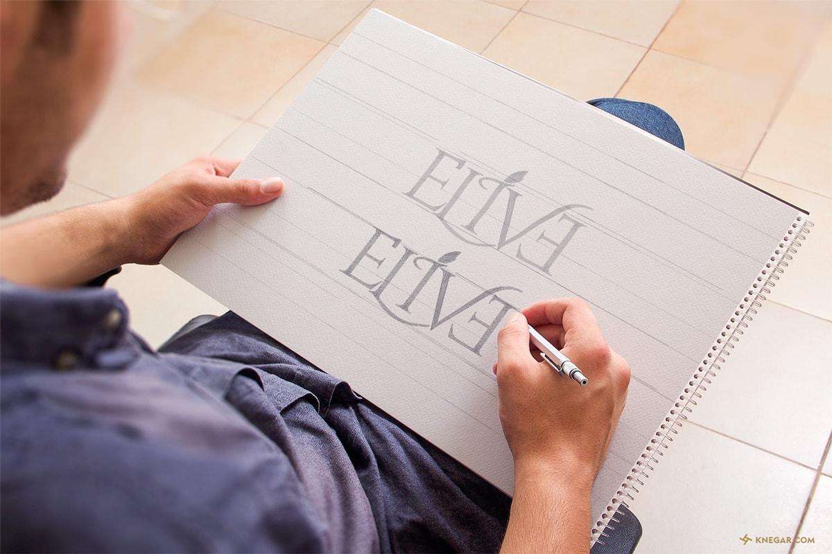 طراحی لوگو - لوگو روغن زیتون - لوگوتایپ