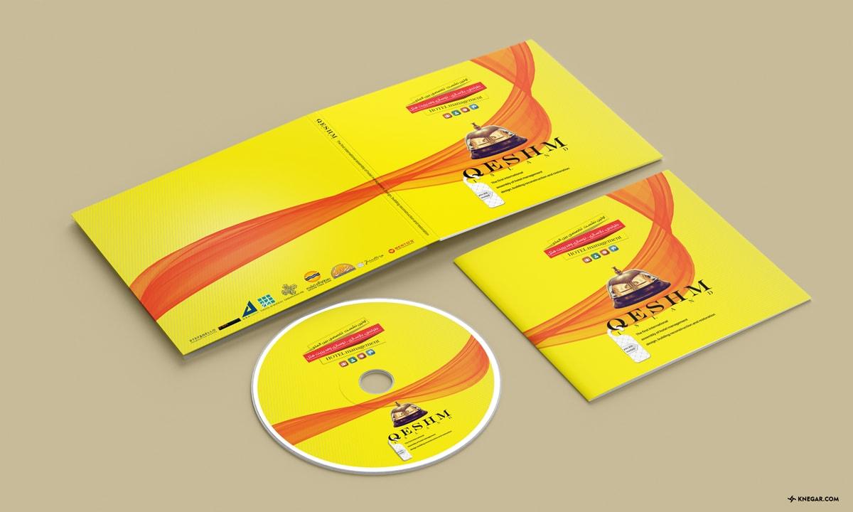 طراحی کاور و لیبل DVD نمایشگاه بین المللی قشم 2018 - چاپ لیبل - چاپ DVD - طراحی کاور DVD