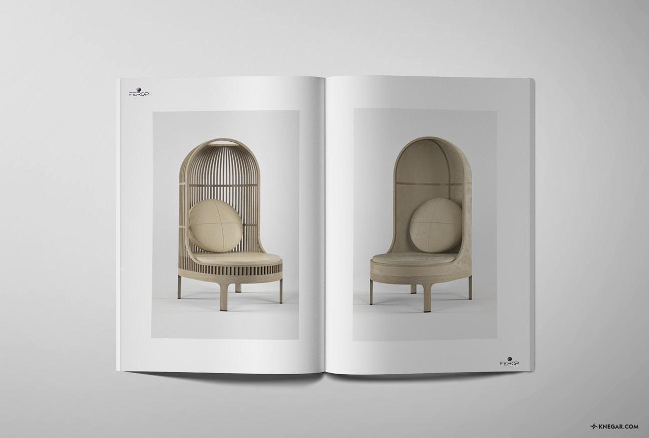 طراحی کاتالوگ - چاپ - تجهیزات کافه و رستوران فِروپ
