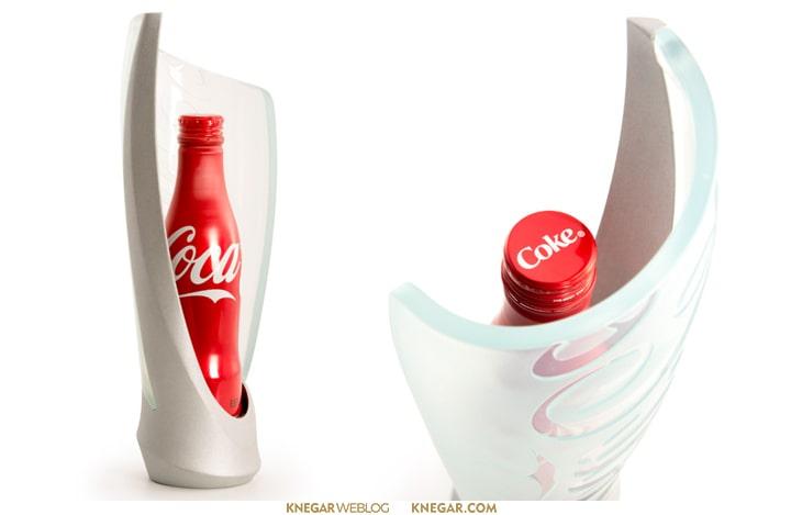 طراحی بسته بندی بطری نوشابه کوکاکولا Glorifier
