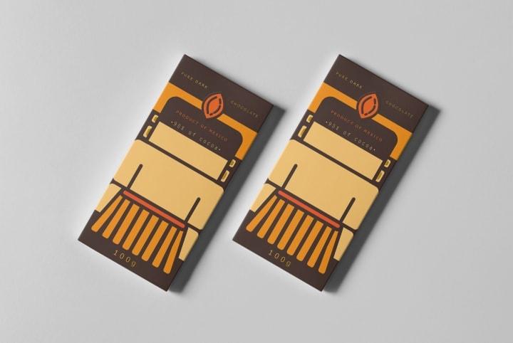 طراحی بسته بندی کاکائو Chocolat