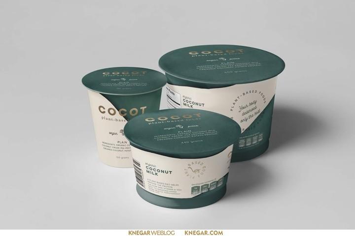 طراحی بسته بندی لبنیات Cocot