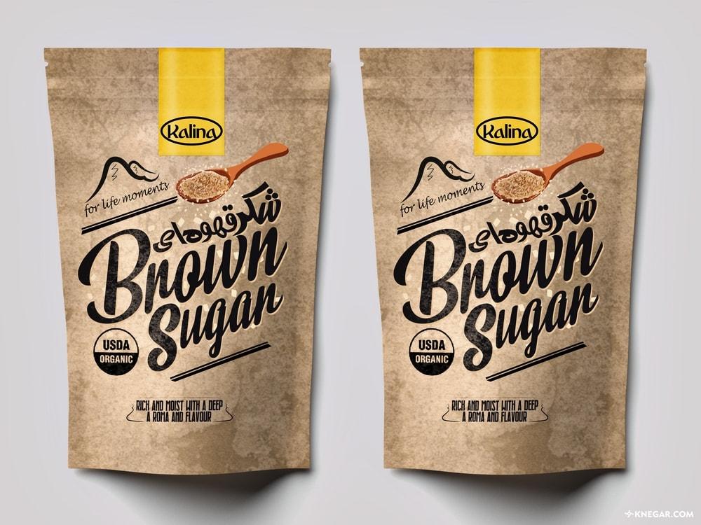 طراحی بسته بندی   بسته بندی شکر   چاپ بسته بندی