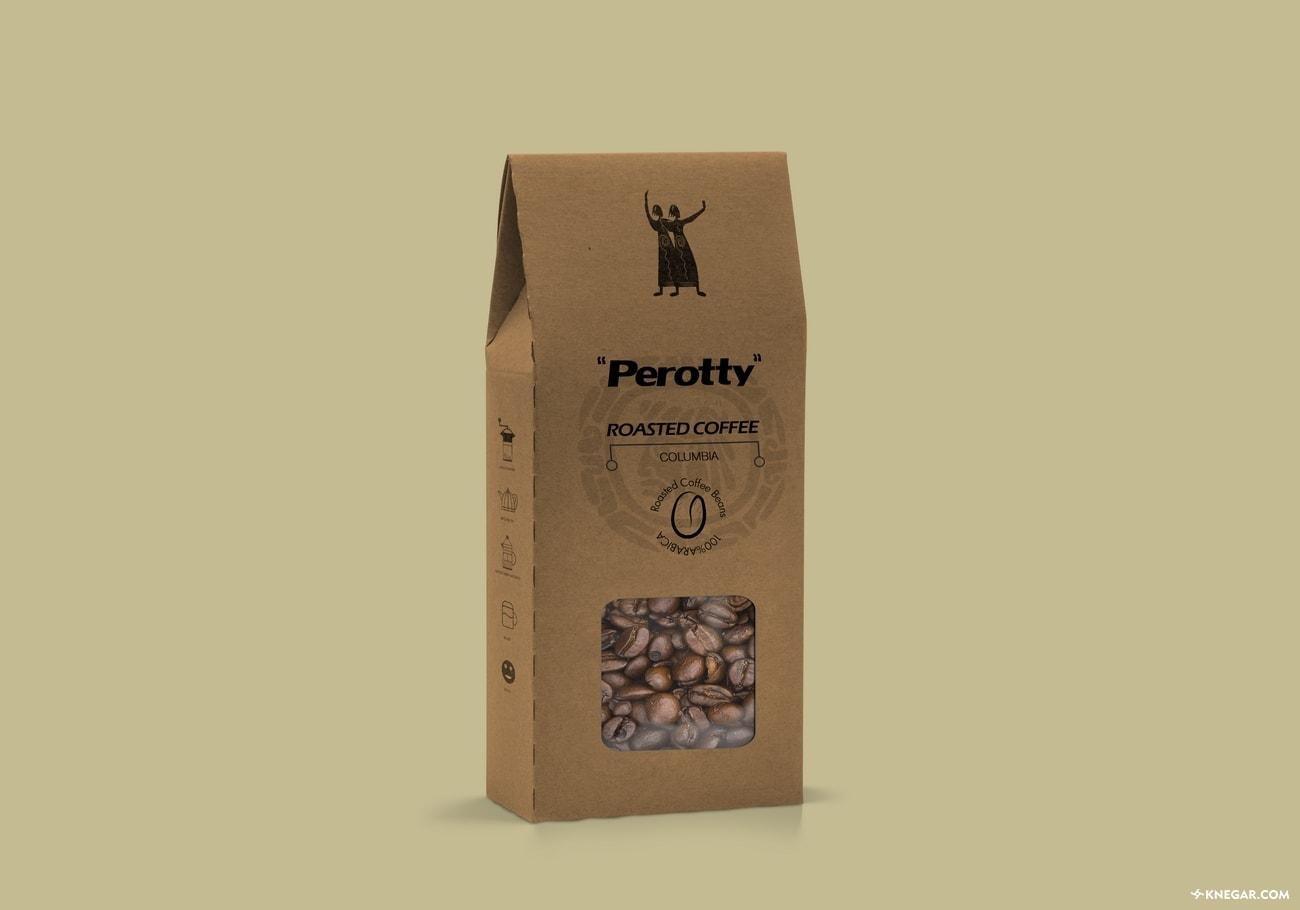 طراحی بسته بندی قهوه | طراحی و چاپ کارتن